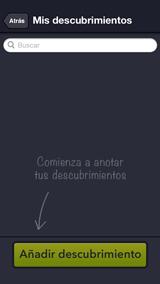 Mentormy, pantalla de Mis descubrimientos personales