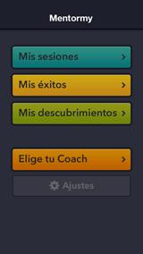 Pantalla de inicio de Mentormy 1ª App gratuita al servicio del Coaching