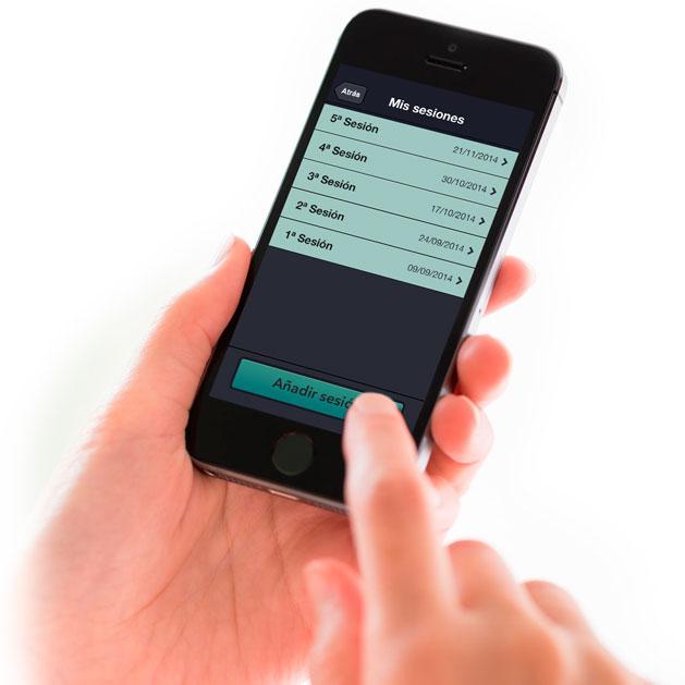 Pantalla de Mis sesiones de Mentormy 1ª App gratuita al servicio del Coaching